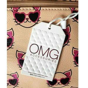 OMG Accessories Bags - OMG Accessories Cool Cat Glitter Duffel Bag